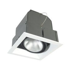 One Light Square Multi Recessed Trim in White
