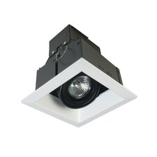 One Light MR16 Square Multiple Trim with Transformer in Black