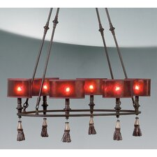 Denholm 6 Light Oval Pendant