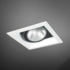 One Light Square Multi Recessed Trim in Black