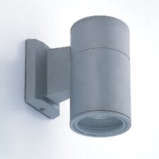 1 Light Outdoor Cylindrical Wall Sconce