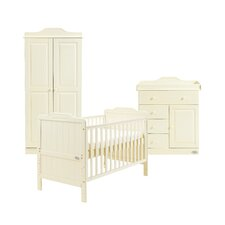 Alexia 3 Piece Nursery Set in Vanilla