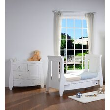 Lucas 2 Piece Nursery Set in Matte White
