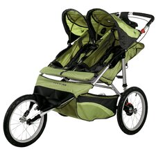 <strong>Schwinn</strong> Arrow Fixed Wheel Double Jogging Stroller