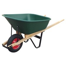 6 Cu. ft. Poly Tray Wheelbarrow