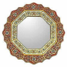 <strong>Novica</strong> Star Mirror in Red