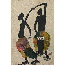 Drummer and Dancer by Emmanuel Atiemoh Yeboah Graphic Art
