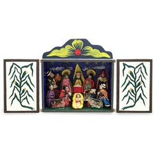 'Bethlehem in Lucanas' Painted Retablo Figurine