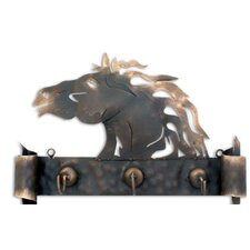 'Horse of Gold' Coat Rack