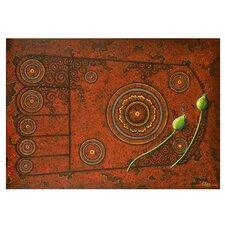 Footprint on Stone by Parinya Nanjai Original Painting on Canvas