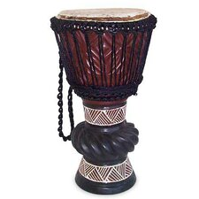 <strong>Novica</strong> 'Ceremonial Celebrations' Djembe Drum Figurine