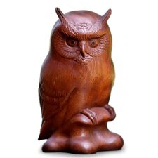 Crested Owl Figurine