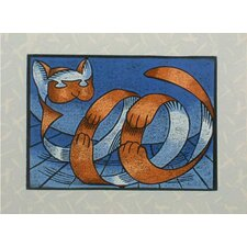 'Roly Poly Tiger Cat' Wall Art