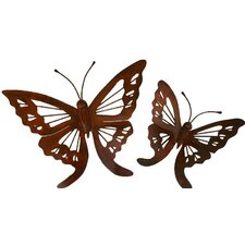 <strong>Novica</strong> 2 Piece Butterfly Wall Décor Set