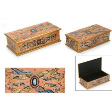 <strong>Novica</strong> 'Sapphire' Jewelry Boxes (Set of 2)