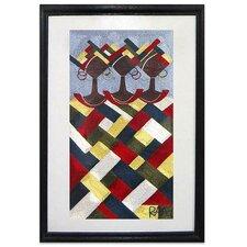 In Harmony Threadwork by Randy Abeka Abbam Framed Graphic Art
