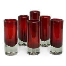 Javier and Efren Artisan Hand Blown Tequila Shot Glass (Set of 6)