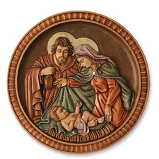 <strong>Novica</strong> Nativity Medallion Cedar Wall Décor