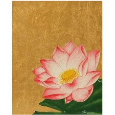 'The Gentleness of The Lotus' by Rom Painting Print on Canvas