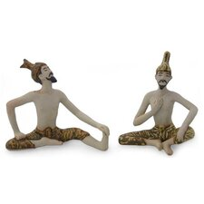 2 Piece Yoga Masters Figurine Set