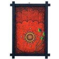 Footprint of Buddha by Parinya Nanjai Abbam Framed Graphic Art