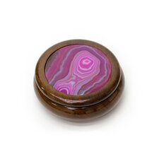 Rose Cedar and Agate Jewelry Box