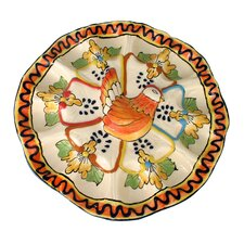 Jorge Quevedo Golden Harvest Ceramic Egg Plate