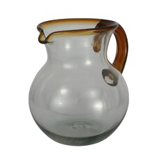 Javier and Efren Harmony Glass Pitcher