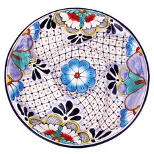 "Jorge Quevedo 14.25"" My Tradition Ceramic Appetizer Plate"