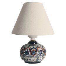 "Javier Servin Enchanted Light Ceramic 5.75"" H Table Lamp with Empire Shade"