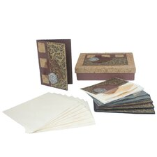 The Teerasak Chaiwong Artisan Golden Thai Saa Paper Greeting Card (Set of 8)