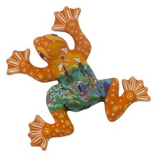 Eufrosia Pantaleon Harvest Frog Ceramic Wall Adornment