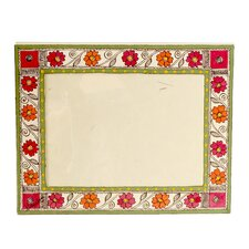 <strong>Novica</strong> The Vidushini Artisan (5x7) Flowers Of Bihar Madhubani Photo Frame