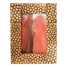 The Kamal Artisan (4x6) Floral Honeycomb Horn Photo Frame