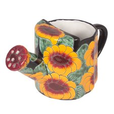 Castillo Family Artisan  Golden Flowers Watering Pot