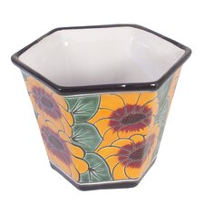 Castillo Family Artisan Sunflower Patch Flowerpot (Octagonal)