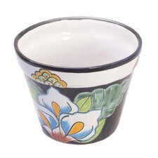 Castillo Family Artisan Calla Lilies Ceramic Flower Pot