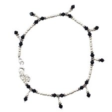 The Neeru Goel Artisan Jaipur Night Onyx Anklet