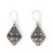 <strong>Novica</strong> The Sukartini Artisan Four Petals Dangle Earrings