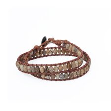 The Siriporn Artisan Earthly Melody Jasper Wrap Bracelet