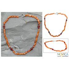The Narayani Artisan Carnelian Rajasthan Summer Strand Necklace