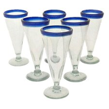 Javier and Efren Artisan Crafted Recycled Hand Blown Beer Glass (Set of 6)