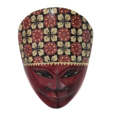 <strong>Novica</strong> The Handaru Baskoro Batik Mask Wall Décor