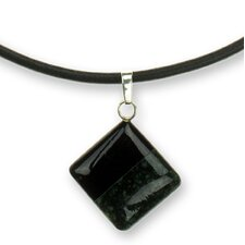 The Ruben and Gilda Perez Sterling Silver Jade Pendant Necklace