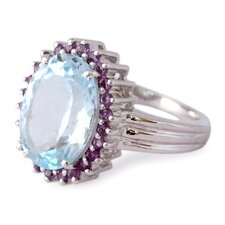 The Siddharth Sterling Silver Gemstone Cocktail Ring