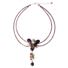 The Busarin Sterling Silver Gemstone Necklace