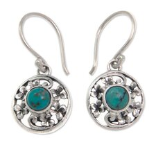 The Ngurah Gede Turquoise Flower Earrings