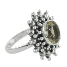 <strong>Novica</strong> The Neeru Goel Sterling Silver Citrine Cocktail Ring