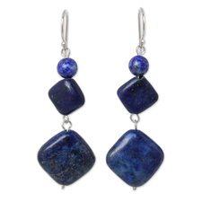 The Anusara Lapis Lazuli Dangle Earrings