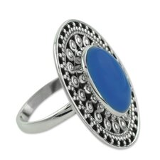 The Neeru Goel Sterling Silver Chalcedony Cocktail Ring